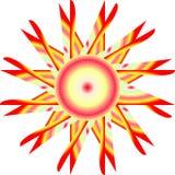 Vecteur et illustration de logo de Sun illustration stock