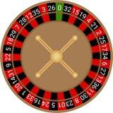 Vecteur europ?en de roulette de casino illustration libre de droits