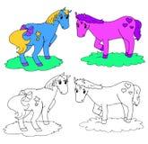 Vecteur fantastique de coloration de chevaux Photo stock