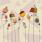 Vecteur fantastique de fleurs illustration stock