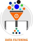 Vecteur - filtrage de données illustration stock