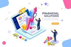 Vecteur financier de concept de technique de la gestion illustration libre de droits