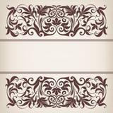 Vecteur fleuri décoratif de calligraphie de trame de cadre de cru Photographie stock libre de droits