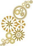 vecteur fleuri d'or de conception de Noël Photo libre de droits