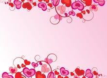 vecteur fleuri de coeur de conception Images stock