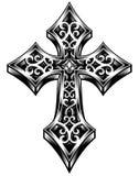 Vecteur fleuri de croix celtique Image libre de droits