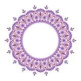 Vecteur fleuri de mandala de dentelle ronde indienne décorative Photographie stock libre de droits