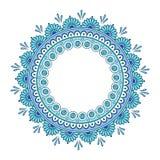 Vecteur fleuri de mandala de dentelle ronde indienne décorative Image libre de droits