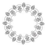 Vecteur fleuri de mandala de dentelle ronde indienne décorative Photo libre de droits