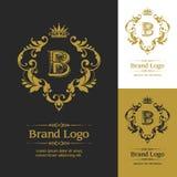 Vecteur fleuri Logo Template Photos libres de droits