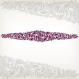 Vecteur floral baroque de trame de cadre de cru Image stock
