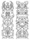 vecteur floral d'éléments de conception Image libre de droits