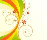 Vecteur floral de beckground Image libre de droits