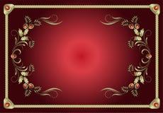 Vecteur floral de cadre rouge Photo stock