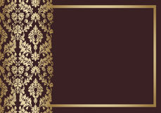 Vecteur floral de cru de fond Image libre de droits