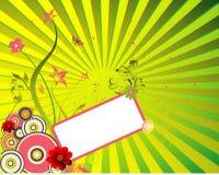 Vecteur floral de drapeau Image libre de droits