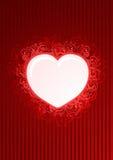 vecteur floral de rouge de coeur de trame illustration de vecteur