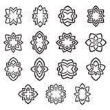 Vecteur floral de symboles abstraits d'arabesque illustration de vecteur