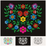 Vecteur floral ethnique mexicain avec la belle et adorable conception illustration libre de droits