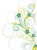 Vecteur floral vert Image stock