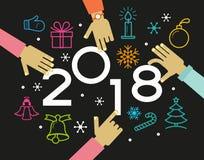 Vecteur fond de 2018 bonnes années illustration libre de droits