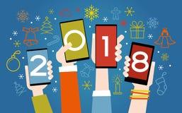 Vecteur fond de 2018 bonnes années illustration stock