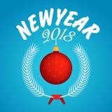 Vecteur fond de 2018 bonnes années Photos libres de droits
