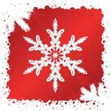 Vecteur. Fond de flocon de neige Images stock