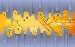 Vecteur Fond gris et jaune abstrait Gradients vibrants et formes géométriques dynamiques illustration libre de droits