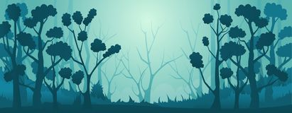 Vecteur Forest Background Illustration Libre de Droits