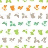 Vecteur Forest Berries Nuts Silhouettes Seamless Photo libre de droits