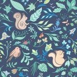 Vecteur Forest Pattern d'été illustration stock