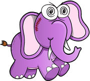 Vecteur fou d'éléphant Image libre de droits