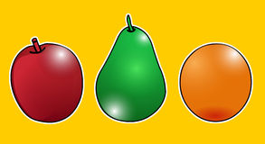 Vecteur - fruits Photos stock