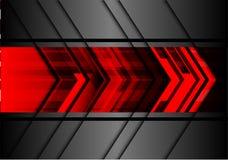 Vecteur futuriste de fond de flèche de technologie moderne rouge abstraite de conception Image stock