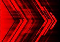 Vecteur futuriste de fond de flèche de technologie moderne rouge abstraite de conception Photo stock