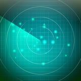 Vecteur futuriste de radar Territoire avec la lumière douce dessous Images stock