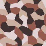 Vecteur géométrique de camouflage Modèle sans couture de camo militaire L'uniforme du nouveau soldat Fond dans le sable et le bru illustration stock