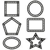 Vecteur géométrique de conception de formes Photos libres de droits