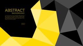 Vecteur géométrique de fond, graphique polygonal, texture minimale, conception de couverture, calibre d'insecte, bannière, page W illustration stock