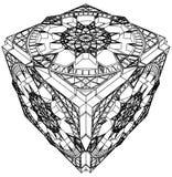 Vecteur gothique 03 de montre d'horloge de cube abstrait Photo libre de droits