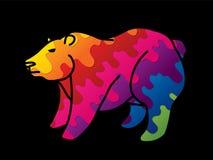 Vecteur graphique de bande dessinée de position de Big Bear illustration libre de droits