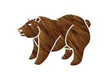 Vecteur graphique de bande dessinée de position de Big Bear illustration de vecteur