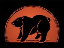 Vecteur graphique debout de Big Bear illustration de vecteur