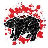 Vecteur graphique debout de Big Bear illustration libre de droits