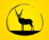 Vecteur graphique debout de Kudu Photos stock
