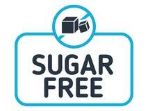 Vecteur gratuit de label de sucre Aucun insigne de sucre d'isolement sur le fond blanc Photos stock
