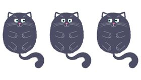 Vecteur Gray Cat dans le style de bande dessinée 2 illustration stock