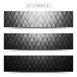 Vecteur Gray Web Banners Set Image stock