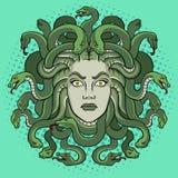 Vecteur grec d'art de bruit de créature de mythe de méduse Photo libre de droits